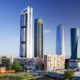 Four most famous skyscrapers of Madrid, Spain