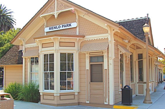 A Victorian styled train depot.